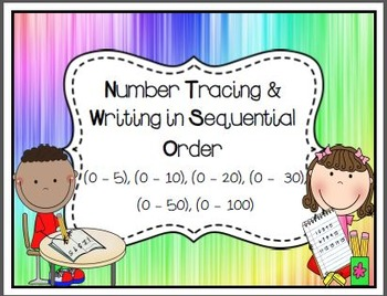 Sequential Number Writing (1-5) (1-10) (1-20) (1-30) (1-50