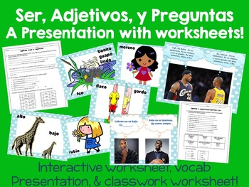 Ser, Adjetivos, y Preguntas PowerPoint Presentation & Work