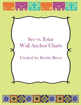 Ser Vs. Estar Wall Charts