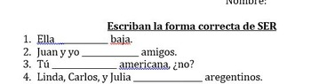 Ser and Adjective Agreement