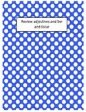 Ser, Estar, and Adjective Worksheet