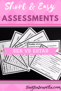 Ser vs Estar Assessment