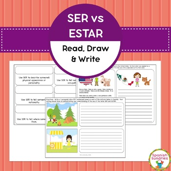 Ser vs Estar - Read, Draw & Write Activities