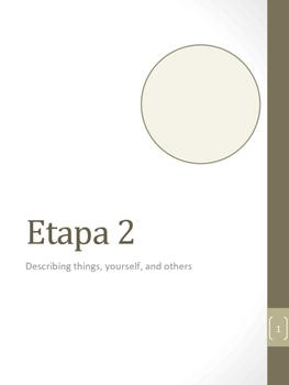 Ser y Adjetivos; Describing Yourself & Others Student Workbook