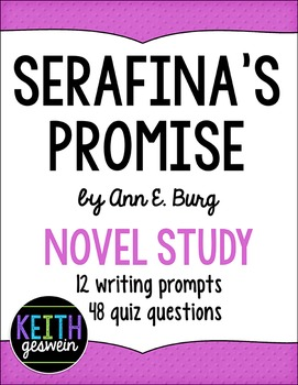 Serafina's Promise Novel Study: 12 Writing Prompts and 48