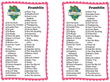 Series Reading Check List: Franklin