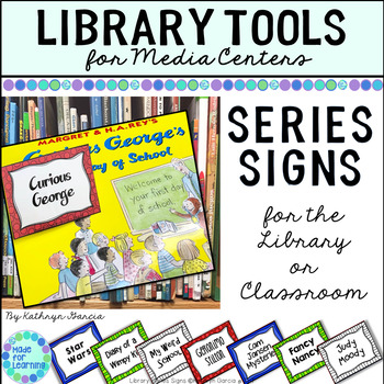 Series Signs/Labels for the School or Classroom Library