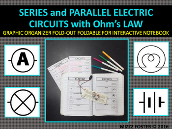 Series and Parallel Circuits Graphic Organizer Foldable fo