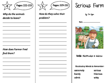 Serious Farm Trifold - Storytown 2nd Grade Unit 5 Week 2