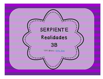 Serpiente (Board Game) Realidades I - 3B