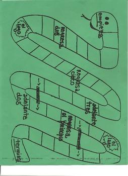 Serpiente game - snake board game