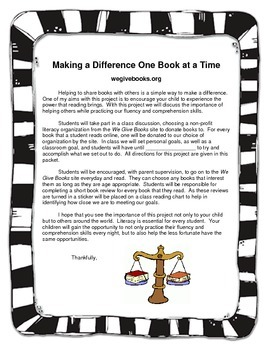 Service Learning Project: Reading