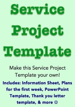 Service Project Template *Editable*