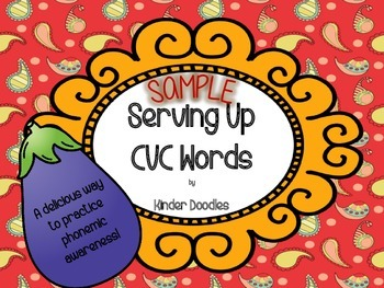 Serving Up CVC Words Sample