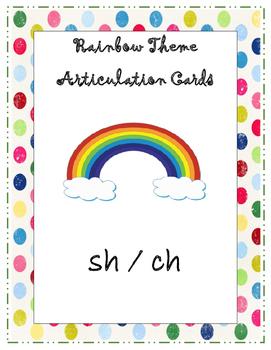 Set 1: Articulation Speech Cards (sh/ch)