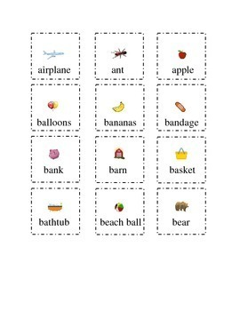 Set 1 Sight Words Letters A and B Cut and Paste Kindergart
