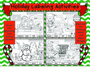 December Labeling Set 2 Beginning-Ending Sounds #novparadise