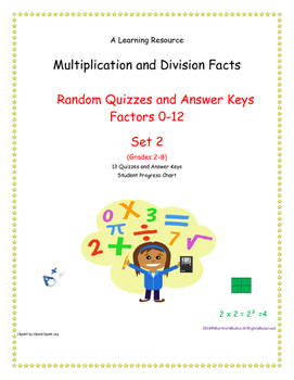 Multiplication and Division Facts (0-12 Random Order) Set