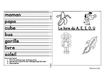 Set 2 : le livre du A,E, I, O, U