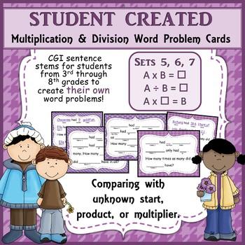 MiniBundle 3 Multiplication and Division CGI Sentence Stem