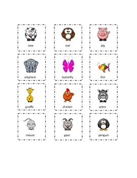 Set 5 Playtime Sight Words Cut and Paste Kindergarten