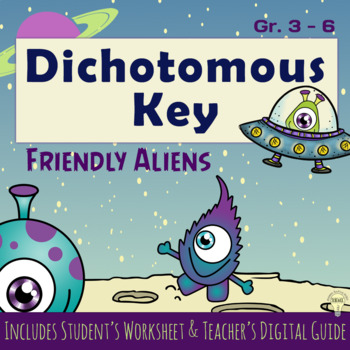 Set Dichotomous Key Fun Color Creatures with Guide How to