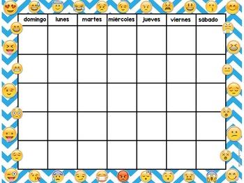 Set de Calendario - Emoticons / Emoji