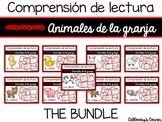 Set de comprensión de lectura. Animales de la granja
