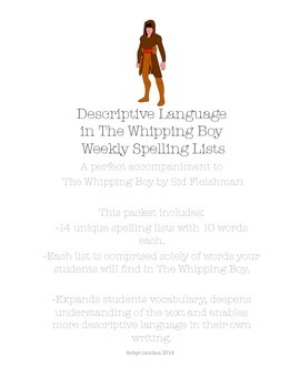 3rd/4th/5th ELA- Set of 14 spelling lists for The Whipping