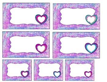 Set of 3 Beautiful Heart Labels
