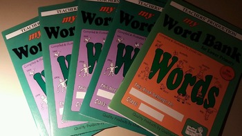 Set of 5 Word Bank, NEW, Never been used, BOOKLETS