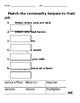Set of Community Helper worksheets