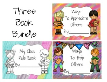 Set of Three Class Books- Rules, Appreciation, Helping Others