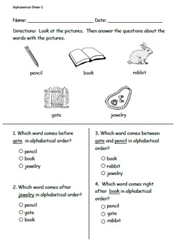 Set of five ELA pre/post assessments ITBS style (newly added)
