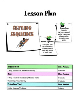 Setting A Sequence To Reach A Goal Lesson