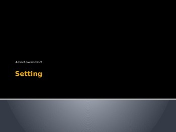 Setting PowerPoint
