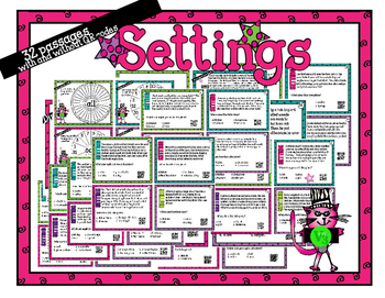 Setting Stars - task cards for scoot or review with or wit