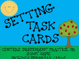 Setting Task Cards- 24 Multiple Choice Cards- Center or Sc