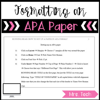 How to Format an APA Paper