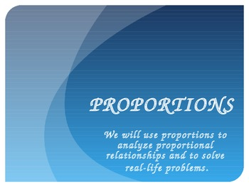 Setting Up and Solving Proportions PowerPoint PLUS Guided