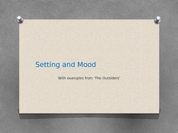 Setting and Mood PowerPoint