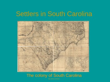 Settlers in South Carolina