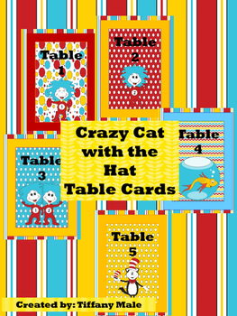 Seuss Inspired Table Cards