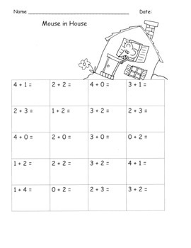 Seussish Math Freebies!  Write Numbers  Addition to 5 Flue