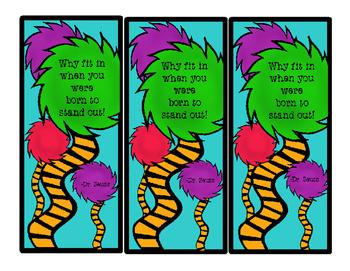 Seuss bookmark