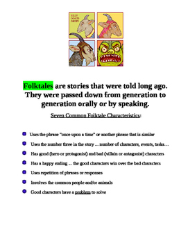 Seven Common Folktale Characteristics