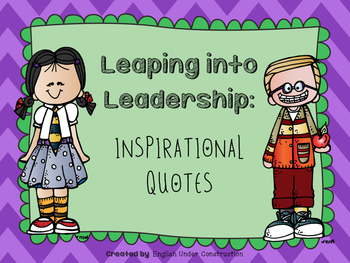 Leaping into Leadership Inspirational Quotes Posters:  Lea