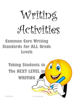 Seven Writing Activities that focus on Ideas, Style, and O