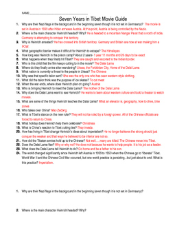 Seven Years in Tibet Movie Guide