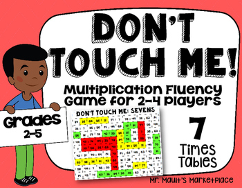 Sevens Times Tables: Don't Touch Me! Multiplication Fact F